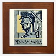 Pennsylvania Miner Framed Tile