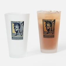 Pennsylvania Miner Drinking Glass