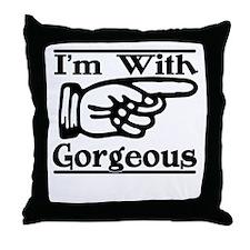 Gorgeous Left Throw Pillow
