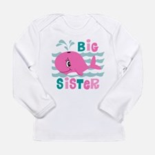 Whale Big Sister Long Sleeve Infant T-Shirt