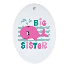 Whale Big Sister Ornament (Oval)
