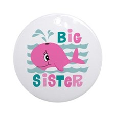 Whale Big Sister Ornament (Round)