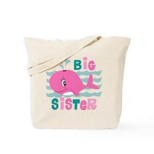 Whale Big Sister Tote Bag