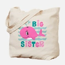 Whale Big Sister Tote Bag
