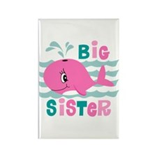 Whale Big Sister Rectangle Magnet