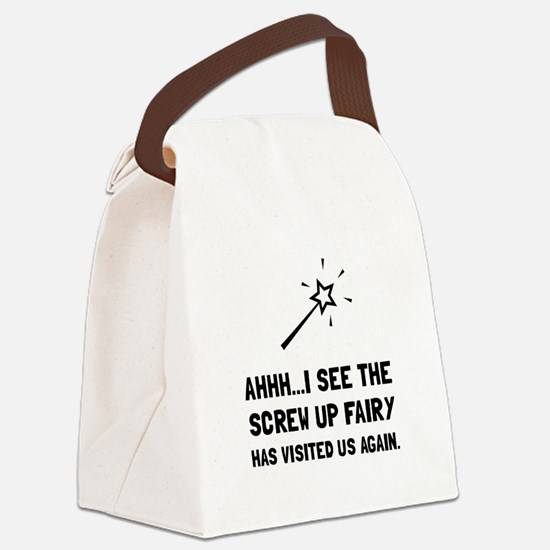 Screw Up Fairy Canvas Lunch Bag