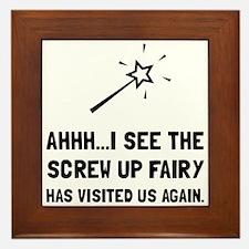 Screw Up Fairy Framed Tile