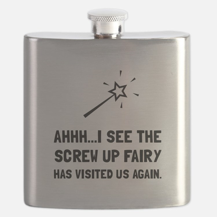 Screw Up Fairy Flask
