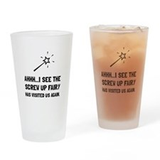 Screw Up Fairy Drinking Glass
