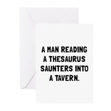 Thesaurus Saunters Greeting Cards