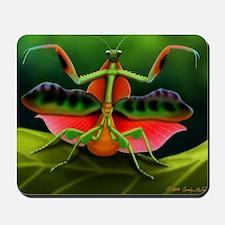 Tropical Praying Mantis on Leaf Mousepad