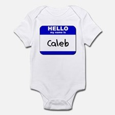 hello my name is caleb  Infant Bodysuit