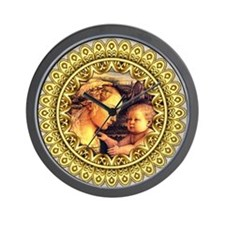 Virgin with Child Jesus by Lippi Wall Clock
