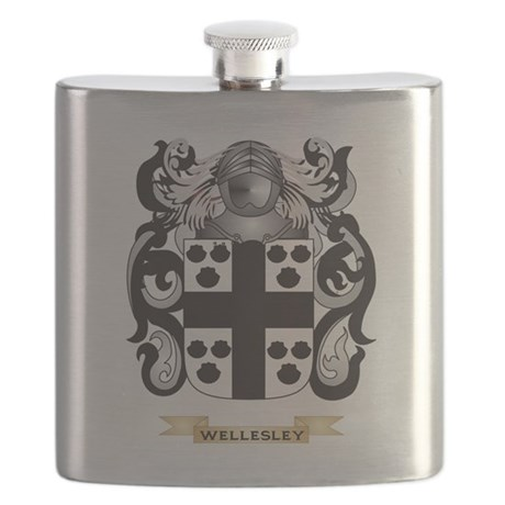 Wellesley Family Crest (Coat of Arms) Flask