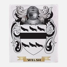 Welsh Family Crest (Coat of Arms) Throw Blanket