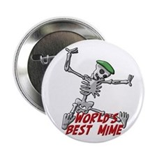 "Best Mime 2.25"" Button"