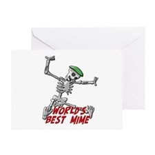 Best Mime Greeting Card