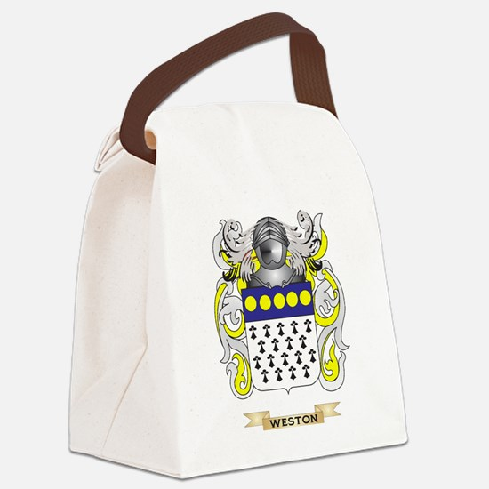 Weston Family Crest (Coat of Arms Canvas Lunch Bag