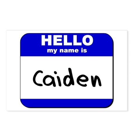 hello my name is caiden Postcards (Package of 8)