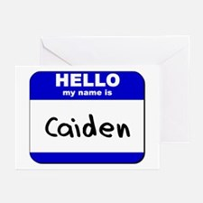 hello my name is caiden  Greeting Cards (Package o