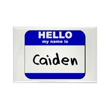 hello my name is caiden Rectangle Magnet