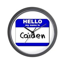 hello my name is caiden  Wall Clock