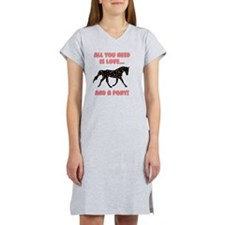 Love And A Pony Women's Nightshirt