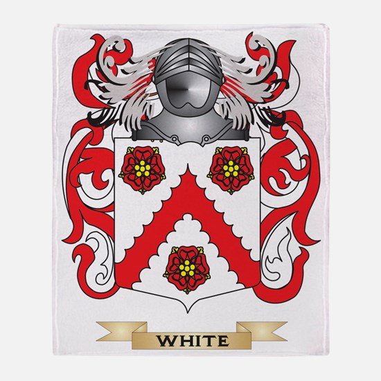 White Family Crest (Coat of Arms) Throw Blanket