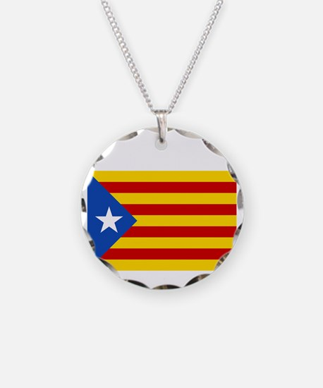 Catalan Independence (F and  Necklace Circle Charm