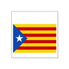 "Catalan Independence Square Sticker 3"" x 3"""