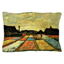 Van Gogh - Flower Beds in Holland Pillow Case