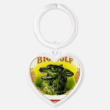 Big Wolf Heart Keychain