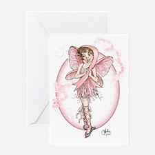 Pink Ribbon Fairy Greeting Card