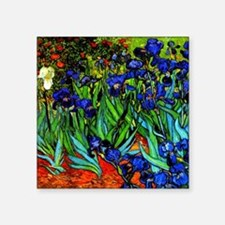 "Van Gogh - Irises Square Sticker 3"" x 3"""
