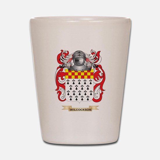 Wilcockson Family Crest (Coat of Arms) Shot Glass