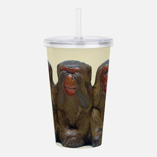 Three Wise Monkeys Acrylic Double-wall Tumbler