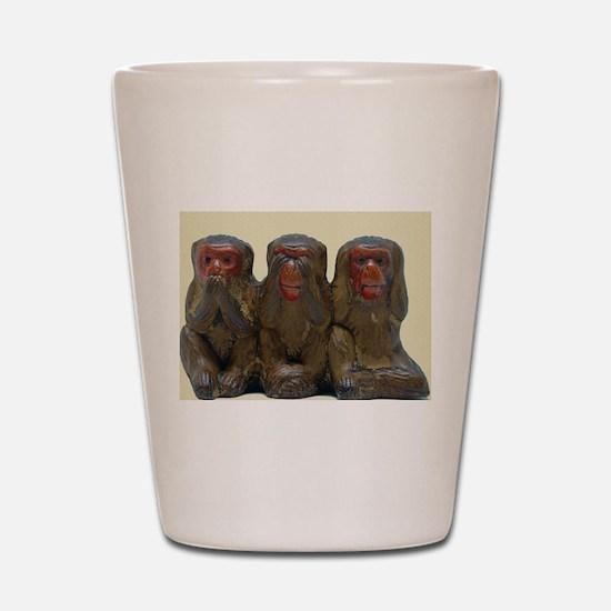 Three Wise Monkeys Shot Glass
