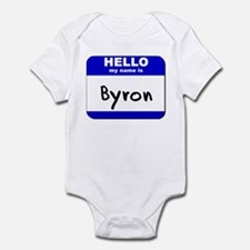 hello my name is byron  Infant Bodysuit
