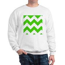 Green and White Chevron Pattern Sweater