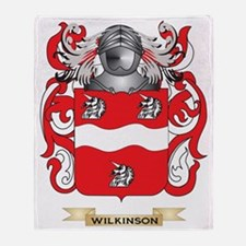Wilkinson 2 Family Crest (Coat of Ar Throw Blanket