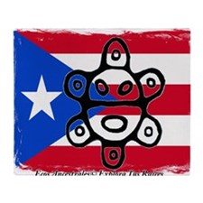 Taino Bandera  Sol de Jayuya Throw Blanket