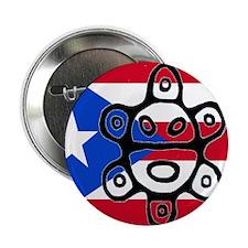 "Taino Bandera  Sol de Jayuya 2.25"" Button"