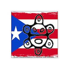 """Taino Bandera  Sol de Jayuy Square Sticker 3"""" x 3"""""""
