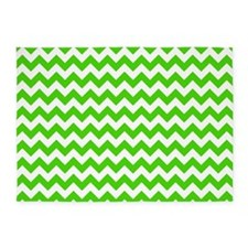 Green and White Chevron Pattern 5'x7'Area Rug