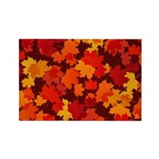 Autumn Leaves Rectangle Magnet