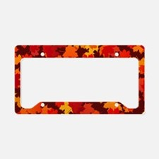 Autumn Leaves License Plate Holder