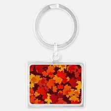 Autumn Leaves Landscape Keychain