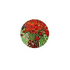 Van Gogh - Red Poppies and Daisies Mini Button