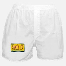 newmexico_licenseplate_santafe.png Boxer Shorts