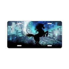Unicorn Silhouette Aluminum License Plate